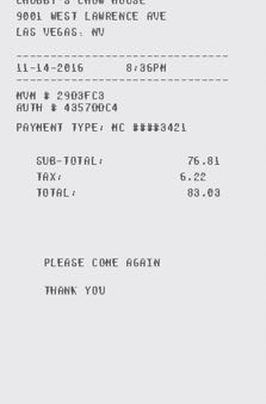 itemized receipt generator
